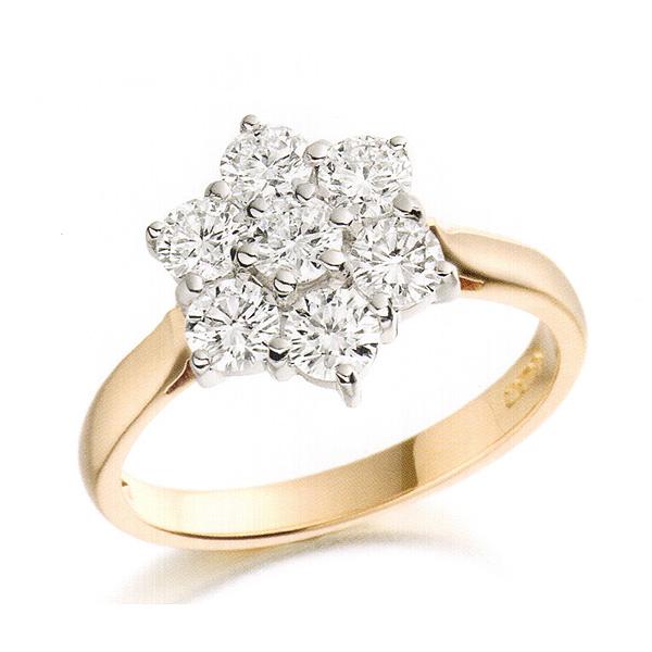 Idamond Cluster Ring  Stoness